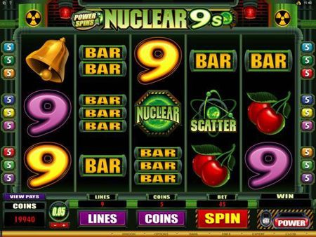 Power Spins – Nuclear 9′s is a great new Microgaming slot. This hot slot is a 5 reel and 9 payline slot machine that has what players are looking for and more. This is a slot that will be in your favorites list!