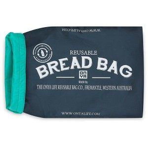 Make your bakery run zero waste with this reusable Bread Bag! Onya's bread bag is made from recycled plastic bottles, keeps all sizes of bread fresh, and is easy to clean and reuse for a long time. Charcoal colour.