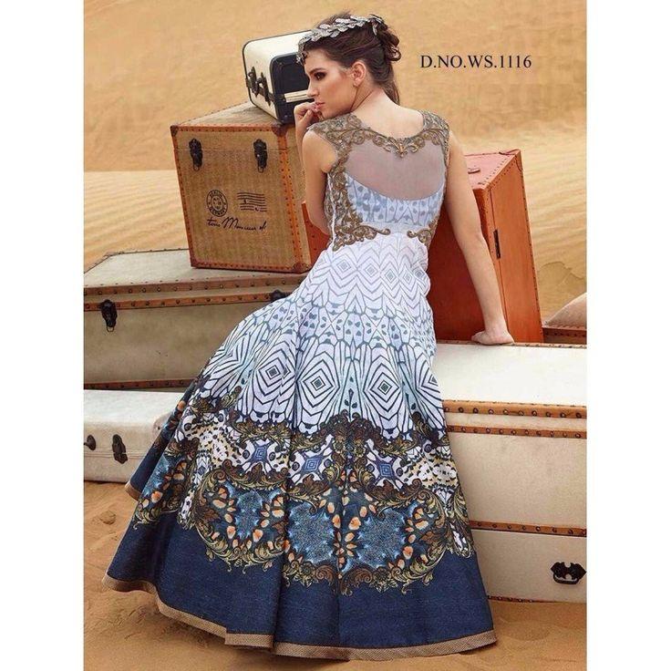 Remarkable Banglori Silk, Digital Print Blue Color Multi Work Anarkali Style Gown at just Rs.2560/- on www.vendorvilla.com. Cash on Delivery, Easy Returns, Lowest Price.