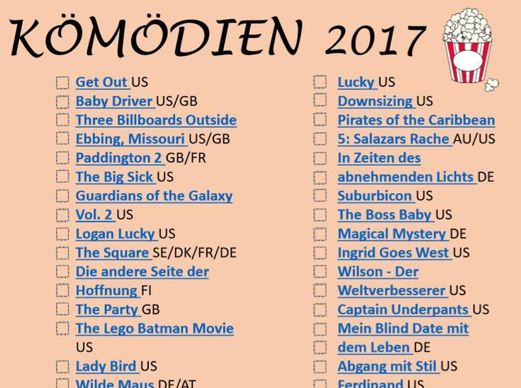 (adsbygoogle = window.adsbygoogle || []).push({});    Mit dieser Vorlagen kannst du die besteKomödien 2017 für sich erkennen. Das sind sehr interessante Filmen. Druck diese Vorlage aus und streich die gesehene Komödien durch.