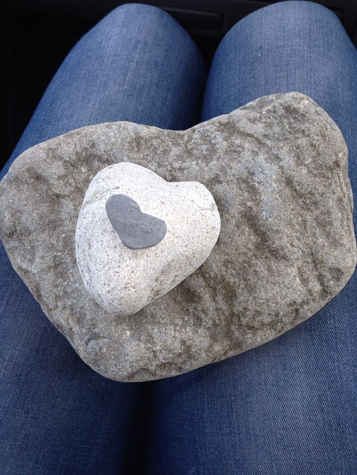 Our heart shape set of rocks!