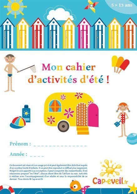 Cahier d'activités sur l'été : jeux et découvertes autour de la saison d'été