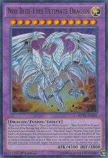 Neo Blue-Eyes Ultimate Dragon holo new yugioh card Auction 2