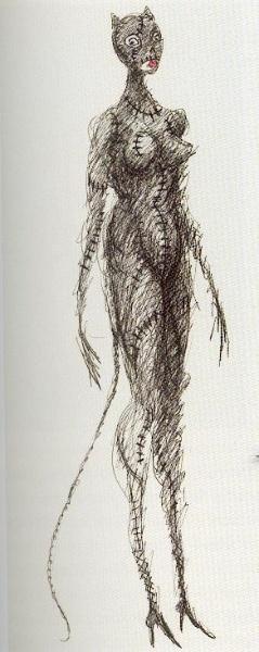 Catwoman by Tim Burton- on imagine les texture, la fourrure