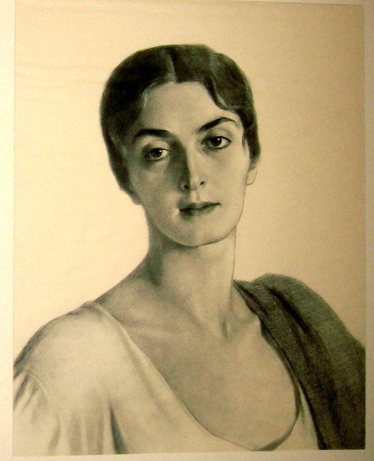 http://artforspb.ru/galereya/ Княжна Мери. МарияПрокофьевна Эристова-Ширвашидзе-Чачба — 1920 г. Эта красавица была музой самого художника.