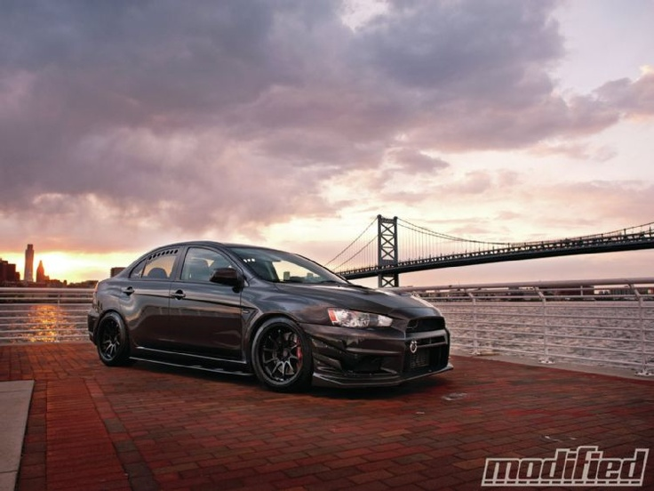 Blacked Out 2008 Mitsubishi Evolution X Gsr
