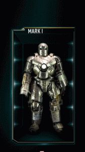 This is a picture of all the released and upcoming Iron Man armors released from Hot Toys. Included is what looks like a previously unreleased Avengers 2 Hulk Buster toy.