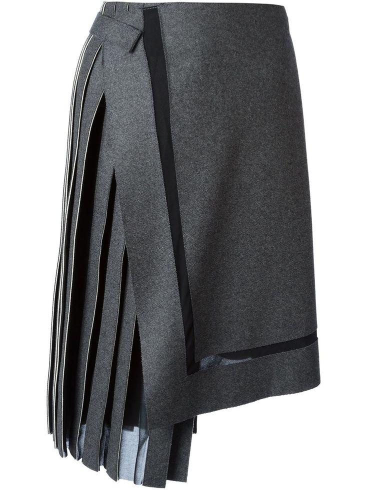Iceberg асимметричная юбка с плиссировкой
