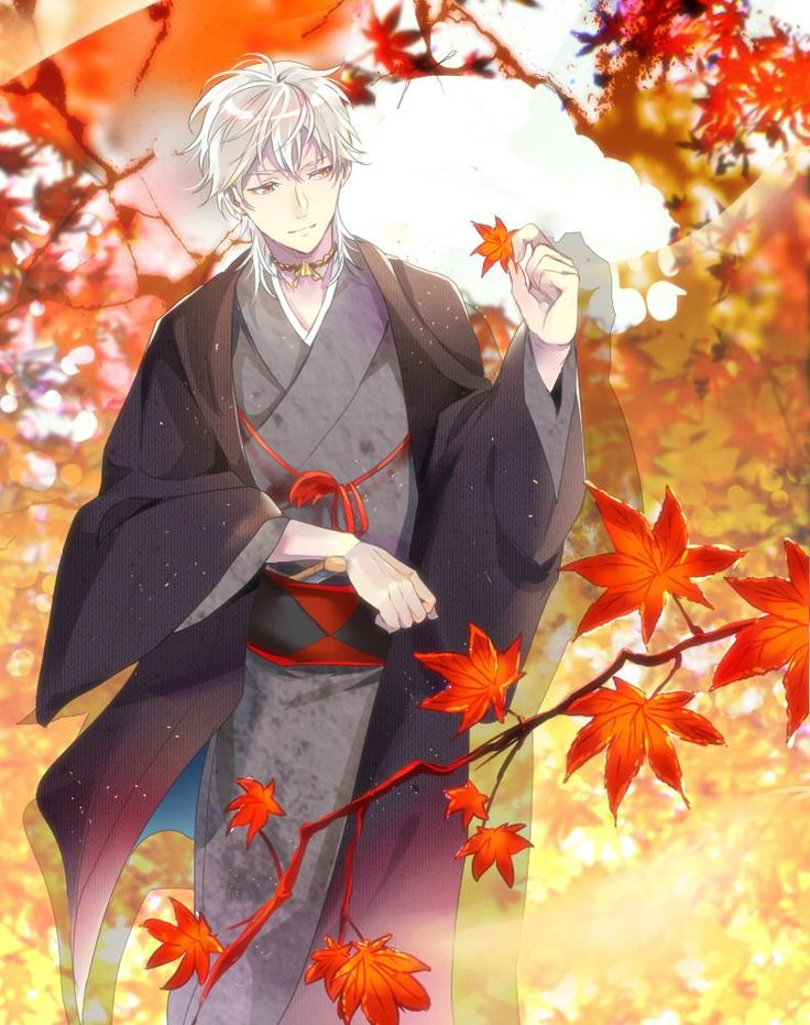 [Topic: autumn leaves / Hazuki / yukata] red and white crane color # Tsurumaru countries Yongkang version drawing 60-minute one-game match