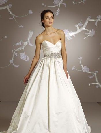 Lazaro - Sweetheart A-Line Gown in Satin  . I love this dress.