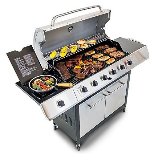 Barbecue Grill Gas BBQ 6 Burner Stainless Portable Wheeled Storage Cart Backyard #LuxuryBBQGrills