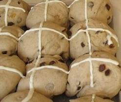 Easter hot cross buns.