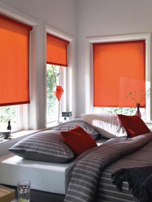 I still might want orange blinds in the sunroom. Thinking about maybe getting wooden blinds and painting them the Sunbaked Orange.