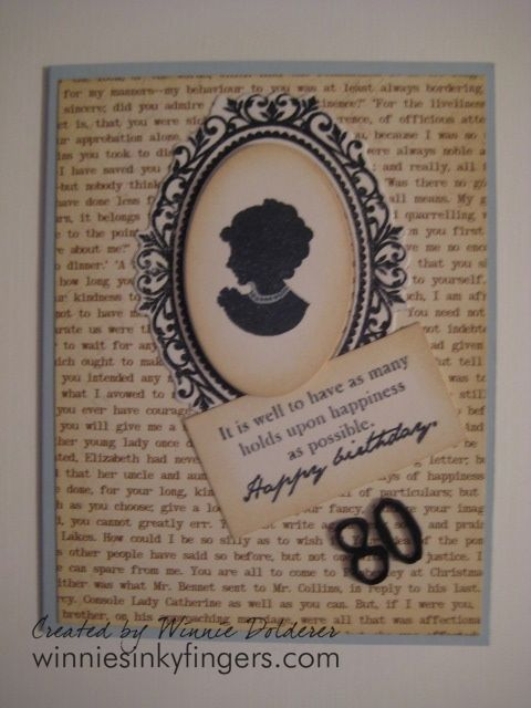 40 best 80th birthday cards images on pinterest 80th birthday making a 80th birthday card stamping 80th birthday card jane austen style bookmarktalkfo Gallery