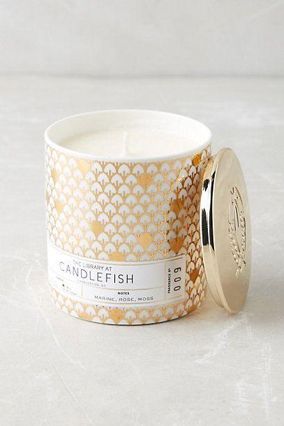 Candlefish Ceramic Candle #anthropologie