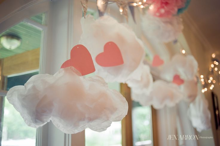 Clouds and Hearts decoration!    photo credit to the most amazing Jen Arron  www.jenarron.com  from this blog post:  http://www.jenarron.com/blog/?p=505#