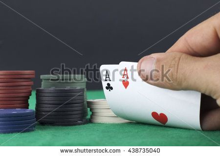Hand showing a pair of aces
