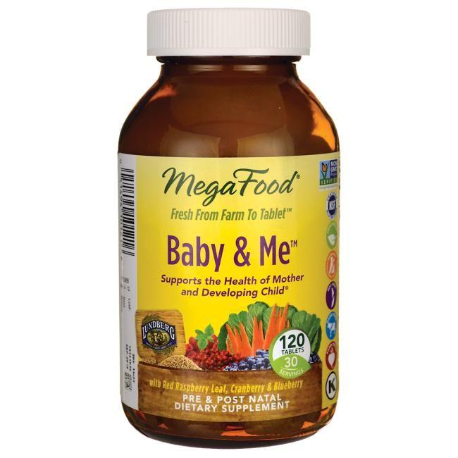 Megafood Baby Me 120 Tabs Prenatal Vitamins Products Prenatal Vitamins Vitamins Food