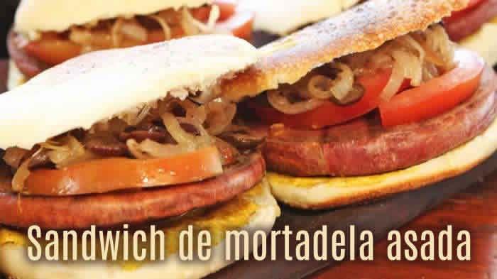Delicioso sandwich de mortadela asada #recetas
