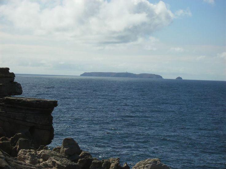 Perspectiva do soco hercínico - Berlengas - a partir do Cabo Carvoeiro, Peniche.