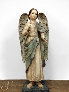 25 Paper Mache Santa Maria Angel Statue by Santos Cage Doll.
