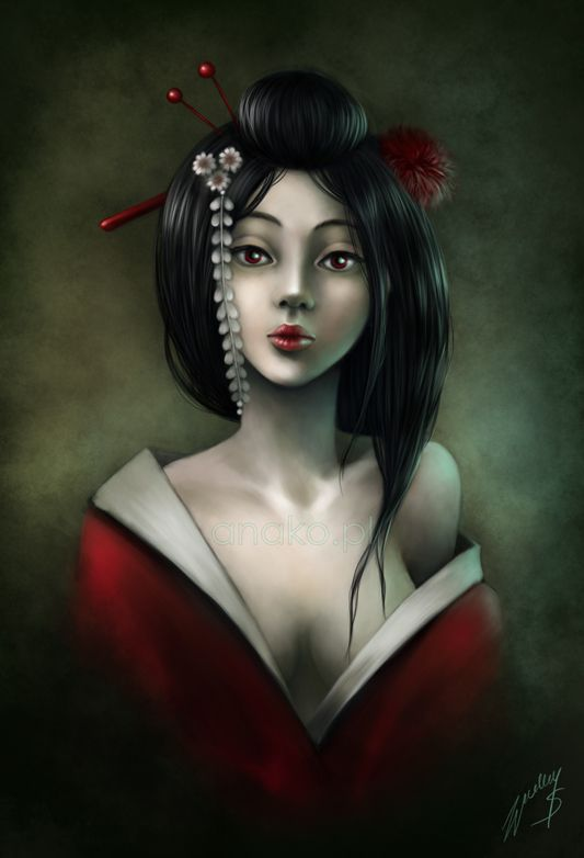 geisha by anako-art.deviantart.com on @deviantART