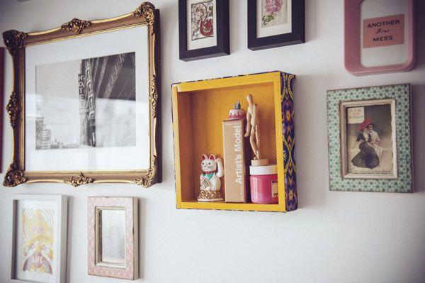 Cómo convertir un cajón viejo en un estante - Revista OH LALÁ! Animate a hacerlo y darle un toque glam a tu living