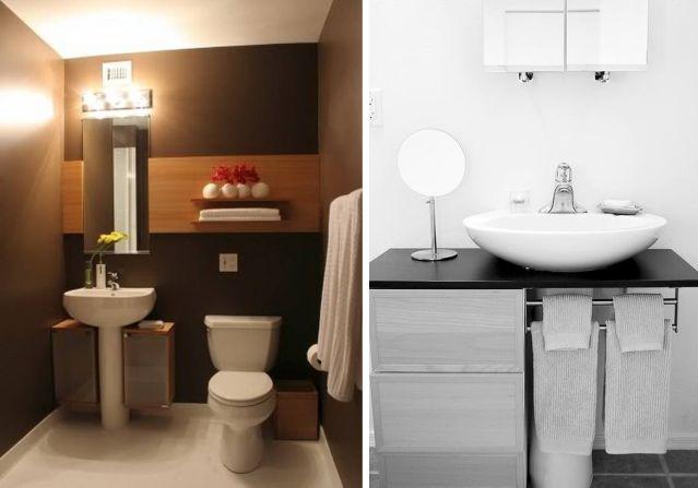 The Blue Post: Idéias para banheiros com pia de coluna