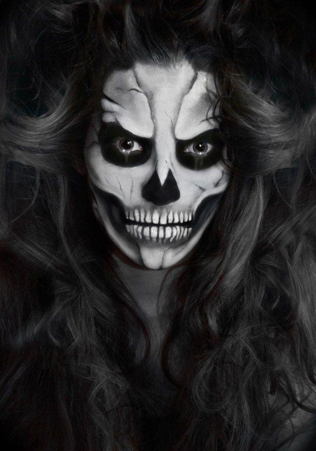 Evil Skull Halloween Makeup