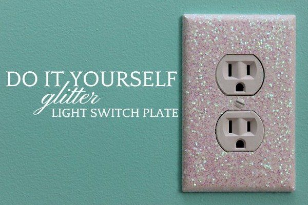 DIY-glitter-Light-Switch-Plate Home
