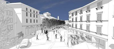 Bologna: Piazza Aldrovandi più vivibile con aree pedonali nuova illuminazione e più verde