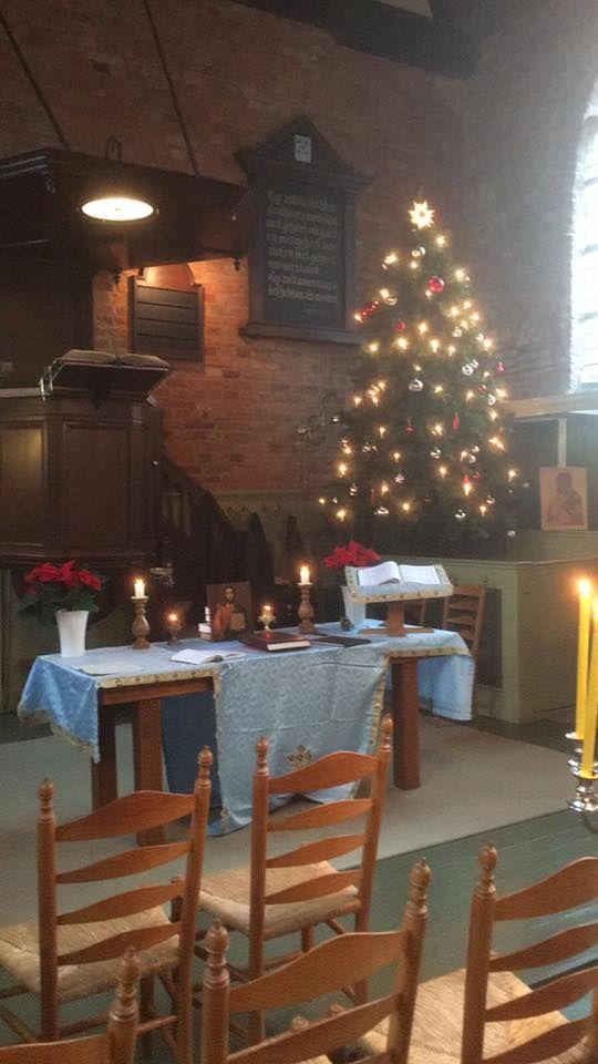 Rittem - Op deze zelfde preekstoel, heeft mijn opa destijds zijn eerste preek als 'hulp prediker' gehouden, de start van zijn activiteiten in de Nederlands Hervormde Kerk. Mooi om te weten dat er nu Orthodoxen bidden.