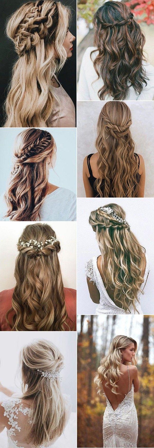 Top 20 Half Up Half Down Hochzeitsfrisuren für 2018/2019 Klicken Sie hier, um mehr zu erfahren …   – Wedding Hair and Makeup