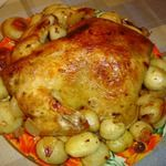 Запеченная курица с лимоном, чесноком и картофелем