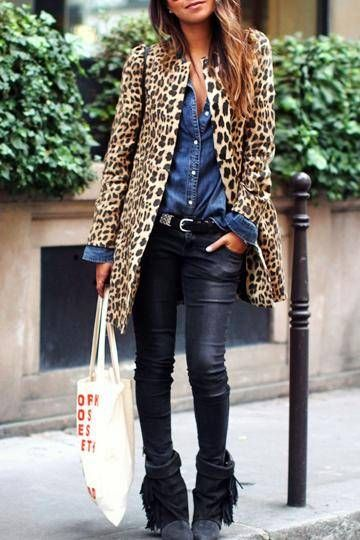 Leopard Coat. A pair of fine booties would be the perfect touch to finish off the your look you are aiming for!
