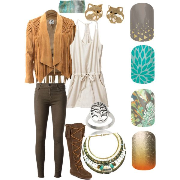 Pocahontas outfit inspo with Jamberry http://ktheavenlyjams.jamberrynails.net