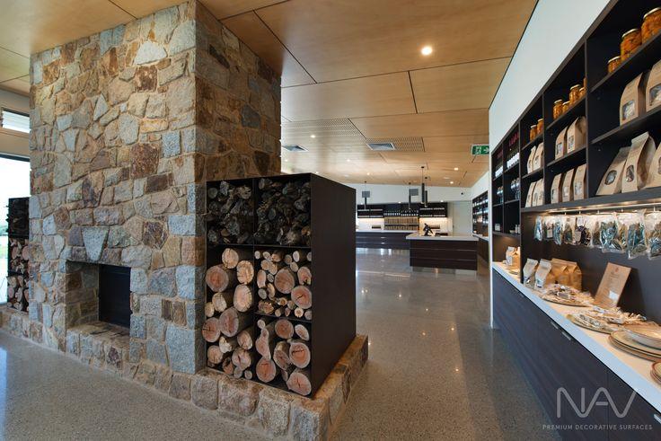 Larder & Firebox. Navurban™ Windsor. Designer: M G Design & Building Pty Ltd Photography: Matthew Mallet Photography Builder: Bright Alpine Builders Pty Ltd Joinery: Wilko Cabinets