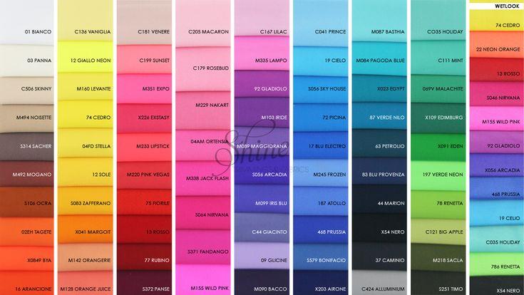 2017 Italian Linel Opaco/Matt colour range | Shine Trimmings & Fabrics