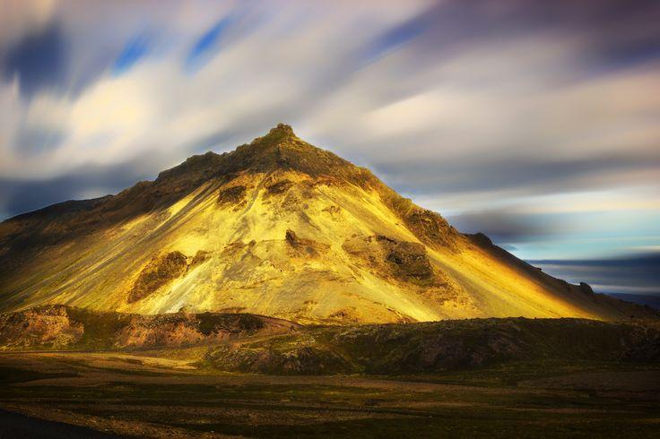 golden mountain - golden mountain in Snæfellsnes Peninsula