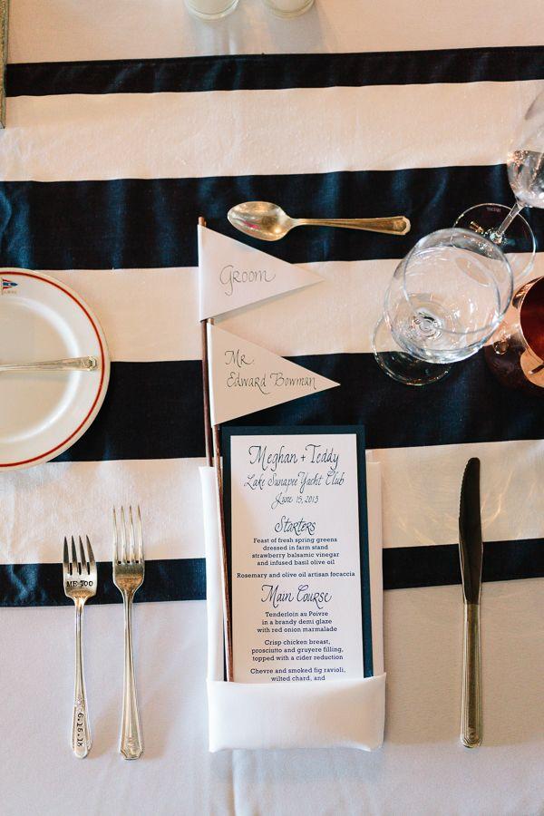 Preppy yacht club wedding