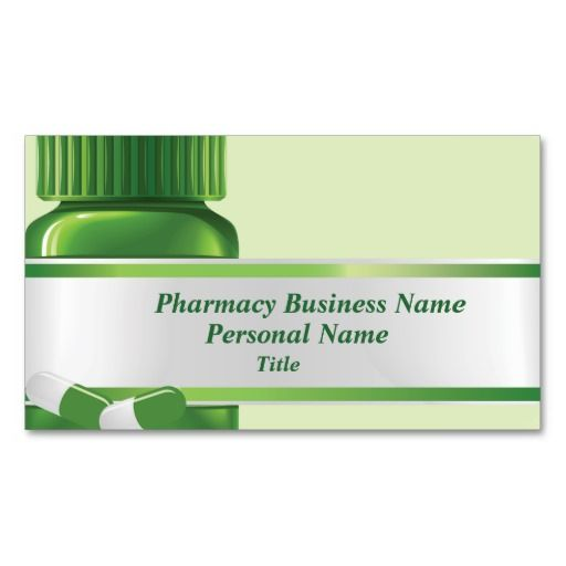 pharmacy business business card