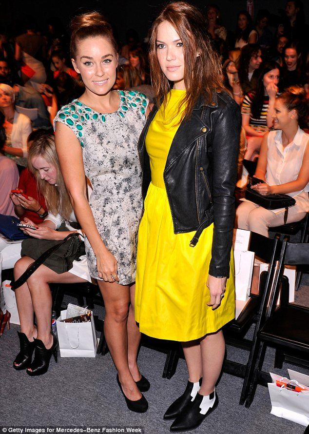 The Hills star posed up with Mandy Moore who also graced the front row at Lela Rose