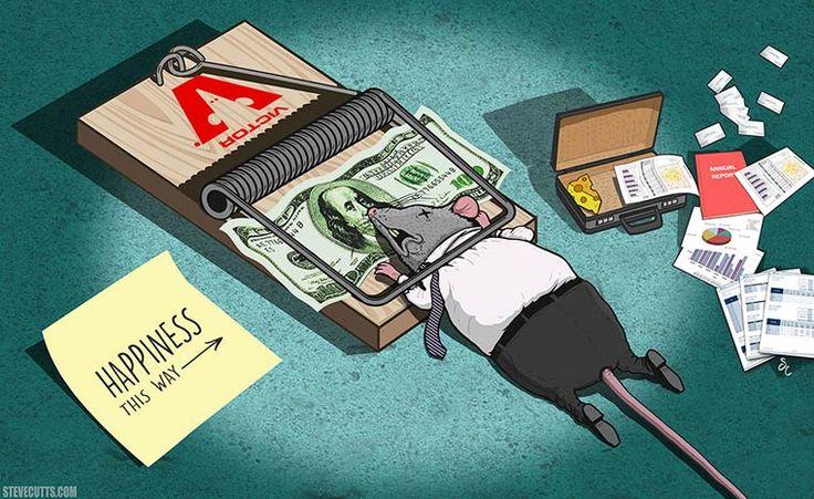 Triste monde moderne – Les illustrations trash et satiriques de Steve Cutts (image)