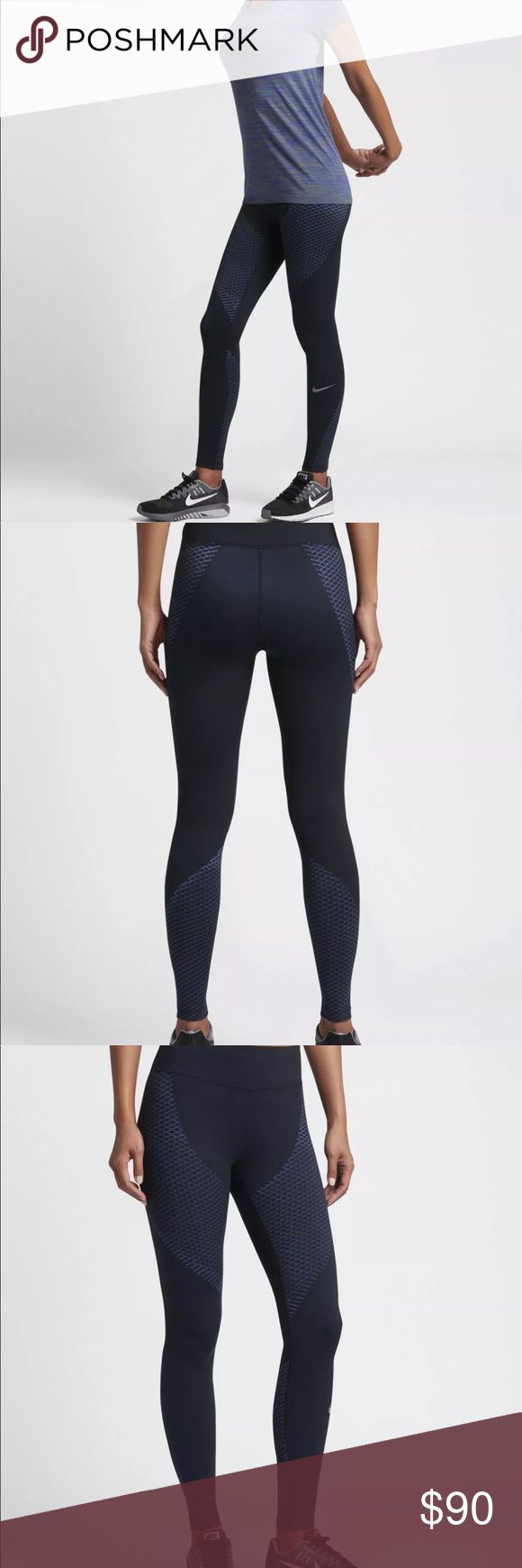 Nike Zonal Strength Wmns Printed Running Tights Nike Zonal Strength Wmns Printed Running Tights  831128-010  Black / Paramount Blue  Size S   TARGETED SUPPORT FOR RUNNERS  The Nike Zonal Strength Women's Running Tights offer incredible support for key muscles and exceptional stretch to help you conquer your fastest, longest runs.   TARGETED SUPPORT  Nike Zonal Strength technology creates a compressive, locked-in feel around your quads and calves to help reduce muscle vibration. Four-way…