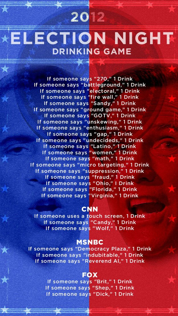 Election night drinking game