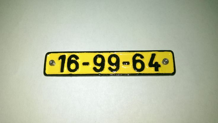 license plates used in the Czechoslovak People's Army in the years 1957-1987 :-) http://www.rc4x4.cz/topic15986.html