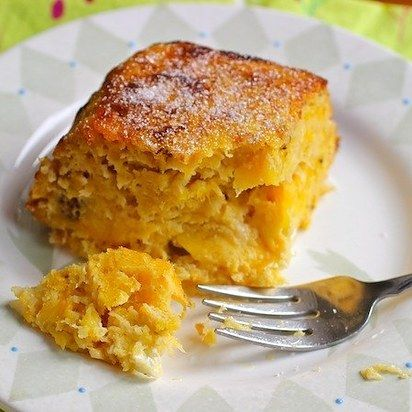 Torta de maduro con queso