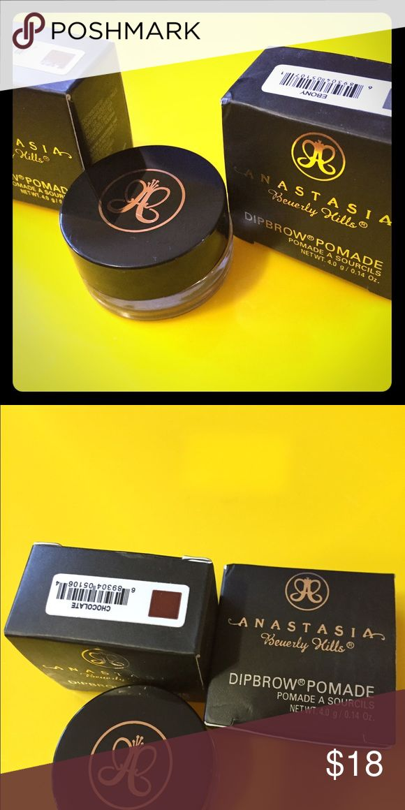👁Anastasia Beverly Hills dip brow pomade👁 Stop using gel eyeliner for your brows. Stop sharpening pencils. It's waterproof, sweatproof and dries soft. Great for oily skin and hot weathers when you put it on, it stays on. It's very  high pigment, you don't need to much to have wonderful results. In different colors: chocolate, auburn, blonde, soft brown, medium brown, dark brown, ebony, taupe. Makeup Eyebrow Filler