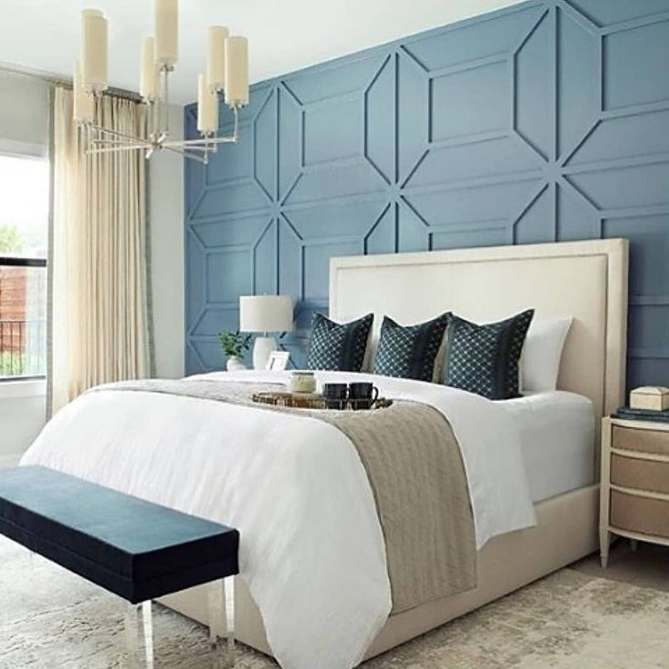 Loving That Cool Wall Detailing Remember To Have Fun With Colors And Shapes Let Your Imagination Run Wild Master Bedroom Design Bedroom Design Simple Bedroom