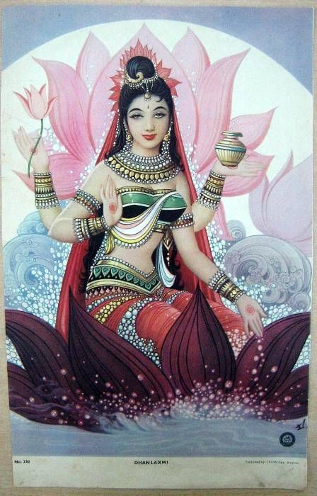 Lakshmi ~  Hindu goddess of wealth, prosperity (both material and spiritual), light, wisdom, fortune, fertility, generosity and courage; and the embodiment of beauty, grace and charm.